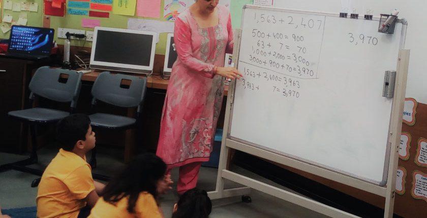 Maths instruction in class